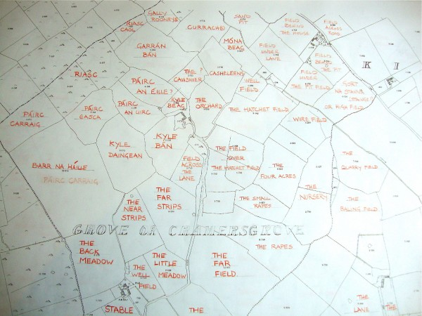 Field Name Map Courtesy of Alan Counihan
