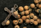 One of only four sets of rosaries discovered in the Kilkenny workhouse mass burials. This set was found in the right hand of an adult female who was buried in a pit together with thirteen other people. Photo: Jonny Geber