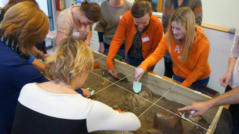 "Teachers and early school practitioners training on ""First Steps Into Archaeology"" at Kilkenny Education Centre"